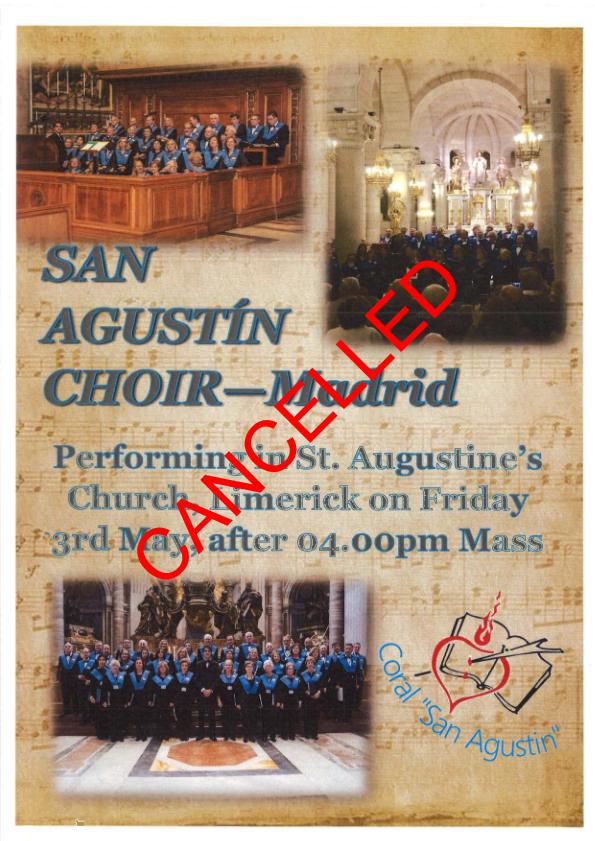 CANCELLED-San Augustin Choir @ St Augustines Church