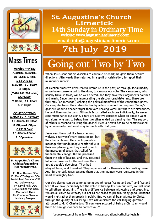 Church Bulletins 2019